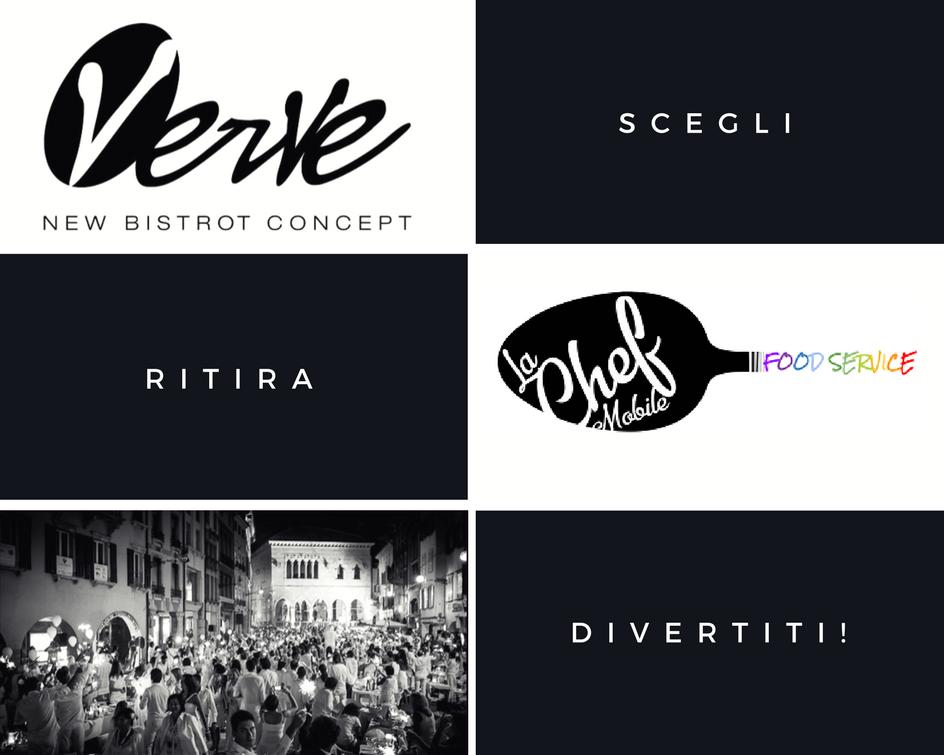 La Chef Mobile & Verve Bistrot per la Cena in Bianco a Udine