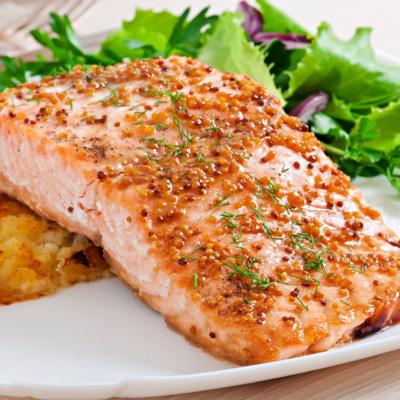 salmone gratin